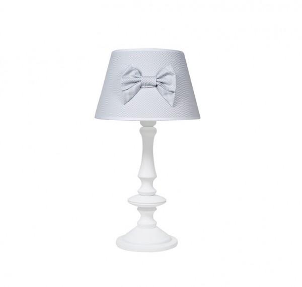 Tischlampe grau mit Schleiife