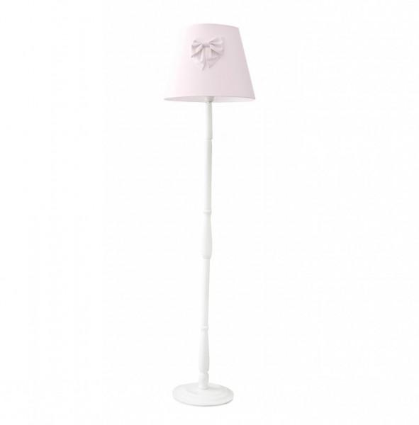 Stehlampe Puderrose mit Schleife