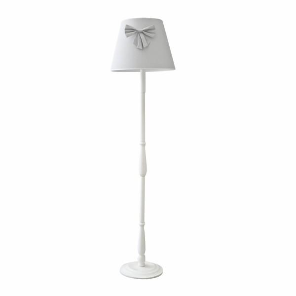 Stehlampe grau mit Schleife